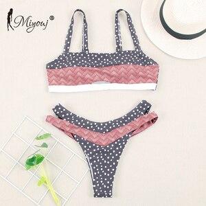 Image 3 - Miyouj Bikinis con Push Up para mujer, traje de baño Floral, bañador de lunares, conjunto de Bikini de Bandeau para playa 2019