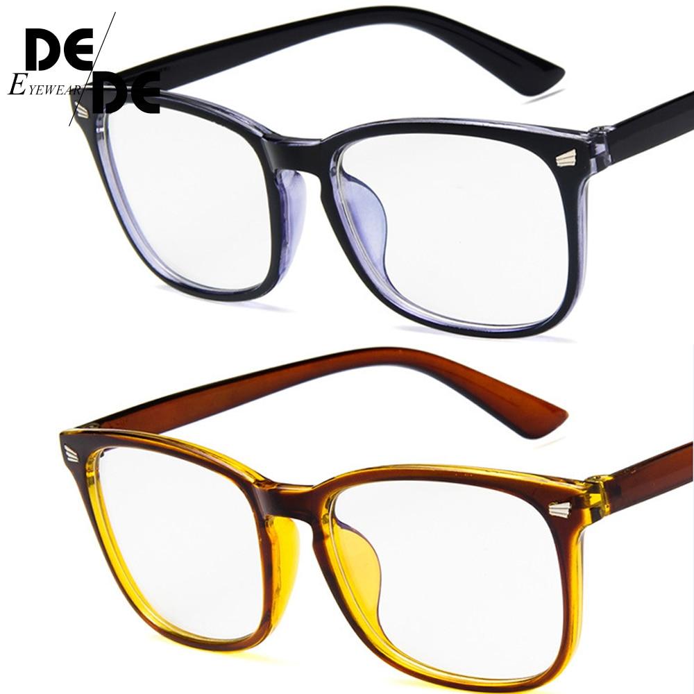 Reading Eyeglasses Blue Light Blocking Glasses Women Men Vintage Eyeglass Woman Frame Oversize Square Black in Men 39 s Eyewear Frames from Apparel Accessories