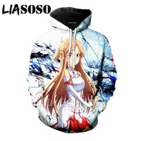 LIASOSO Mens 3d Anime hoodies Men Women Fasion Casual Streetwear Harajuku Hip hop Sweatshirts Unisex Pullover Tracksuit Hooded