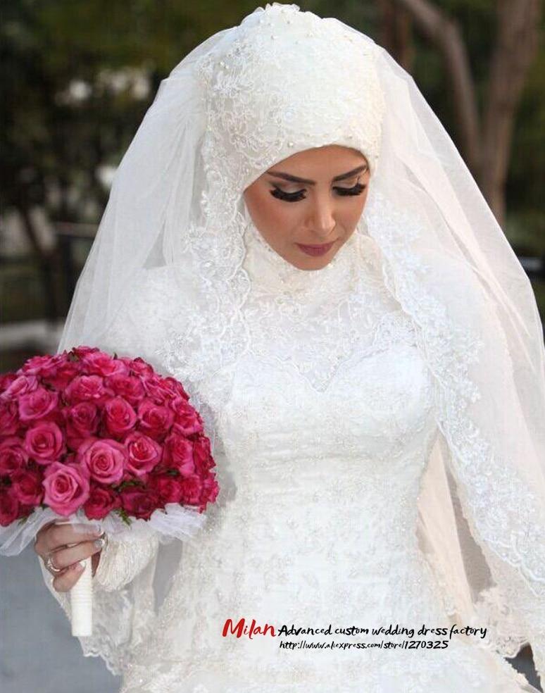 Único Vestido De Novia Musulmana Photo Ideas Ornamento Elaboración ...