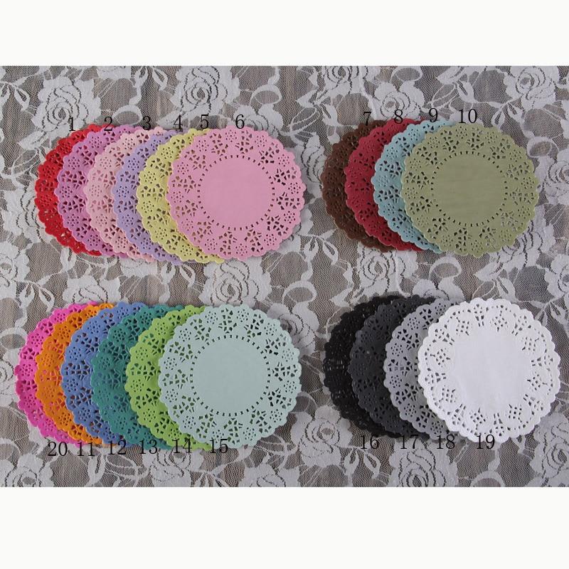 4.5 Inch/11.4cm DIY Scrapbooking/Wedding Decoration Vintage Napkin Hollowed Lace Paper Mat Crafts/Doyleys/