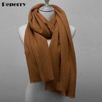 Pleated Scarf Women Forlard Shawls Wraps Autumn Spring Soft Warm Solid Color Bandanas Hijabs 180*90cm