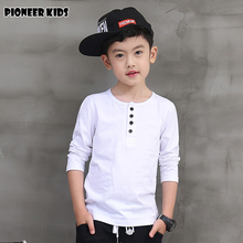 Pioneer Kids 2016 Hot Selling Fashion Autumn Boys Shirts Longsleeve Clothings Tops Tees 100% Cotton.bobo Choses T Shirt