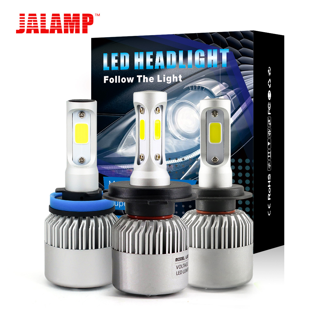 1 Set 6500K 72W H1 H4 H7 9006 HB4 Led Car Headlight H8 9005 Hb3 8000LM H11 H9 Led Auto Lamps Light Bulbs For Cars Plug-N-Play 1 set 8000lm h11 car led headlight kit bulbs cob chip auto led conversion kit 12v h8 h9 replace for halogen lights or hid bulbs