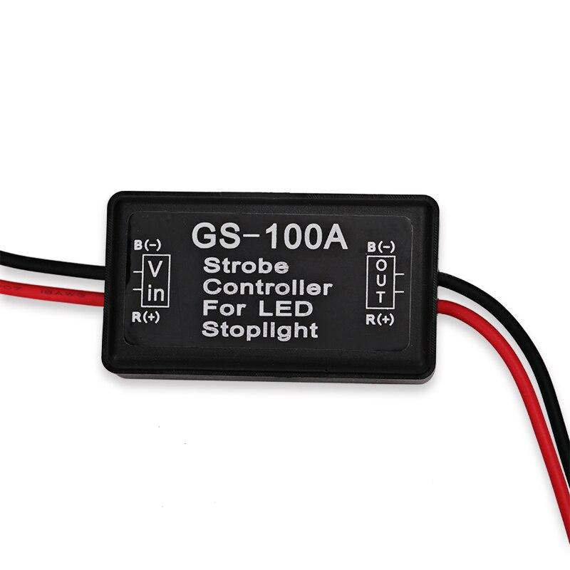 Gs-100a 12v 24v Led Brake Flasher Module Strobe Controller - Ավտոմեքենայի լույսեր - Լուսանկար 4