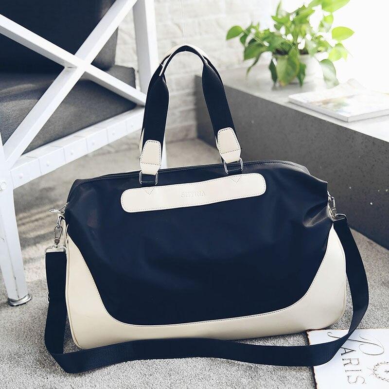 f8c009931e46 Новая сумка холщовый мешок портативный одного плеча сумка цвет сшивание  нейлон Оксфорд Дорожная сумка 3001
