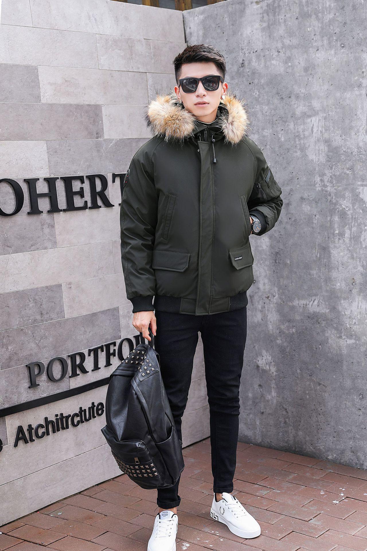 Woxingwosu Herren Daunenjacke Wintermantel lose große Meter kurze Verdickung junge Studenten Männer Daunenmantel Größe M bis 4XL