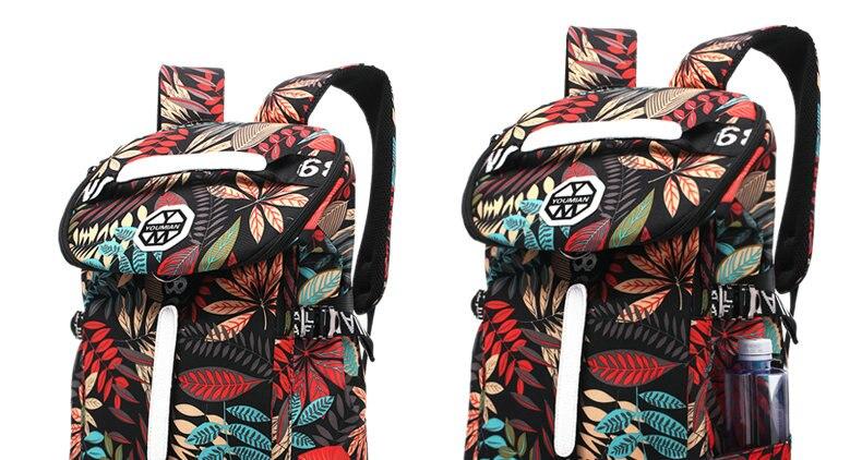 Bolsa de viagem floral 40l conjunto saco