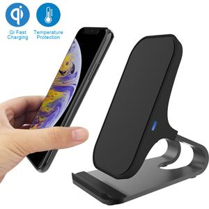Универсальный автомобильный зарядный Кронштейн для мобильного телефона портативный алюминиевый Qi-сертифицированный беспроводной стенд д...