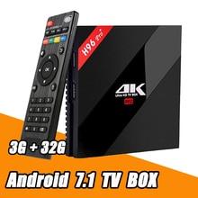 Фотография H96 Pro+ Android 6.0 TV Box S912 Octa Core 3G RAM 32G ROM Bluetooth 4.0 Dual Wifi Kodi Gigabit Ethernet 1000M 4K Smart TV