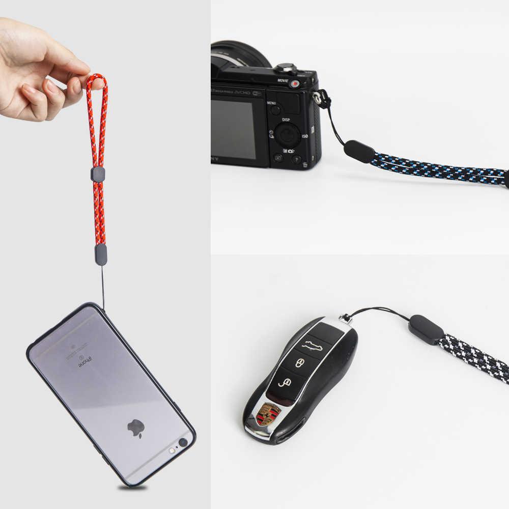 NYFundas ปรับสายรัดข้อมือสายคล้องมือสำหรับโทรศัพท์ IPhone X Samsung กล้อง GoPro USB Flash Drives คีย์ ID keycord พวงกุญแจ