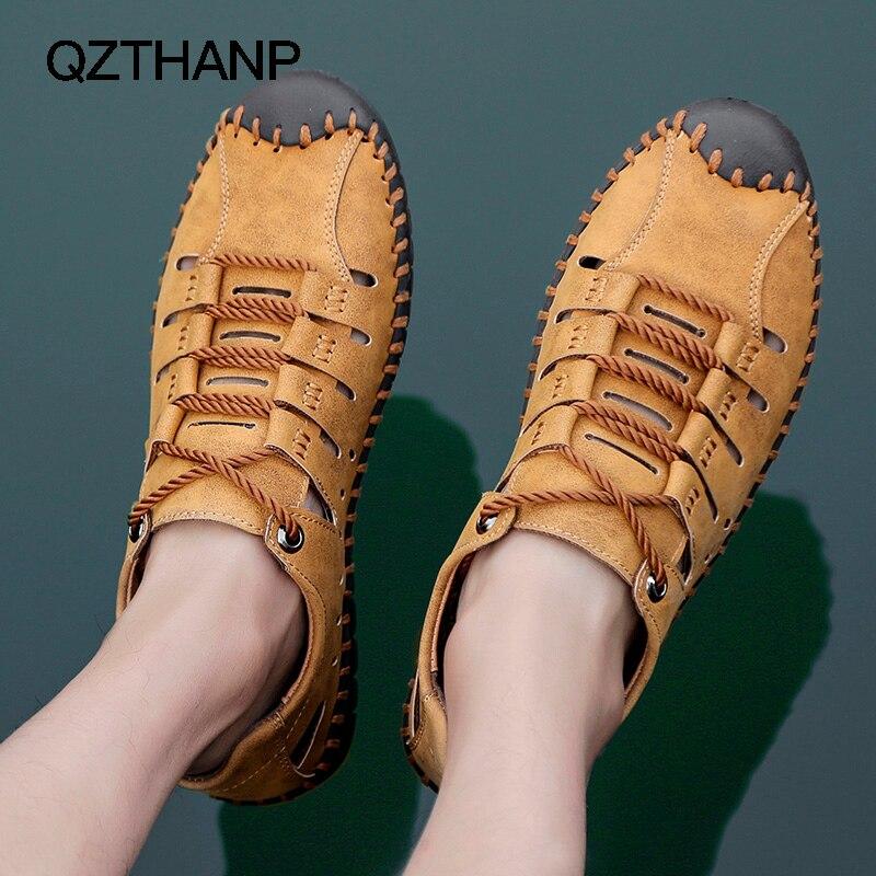 Image 3 - أحذية رجالي كاجوال من الجلد للصيف من Krasovki صنادل للرجال مزودة بنسيج شبكي يسمح بمرور الهواء أحذية رياضية للرجالأحذية رجالية عاديةأحذية -