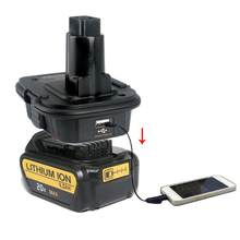 New 18V Battery Adapter DM18D Converted To Li-Ion Charger Tool Convertor For Dewalt Batteries Dropshipping(China)