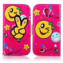 Funny Cute Sweet Fashion Wallet S4 Flip Style PU Leather Case For Samsung Galaxy S4 SIV i9500 Phone Bag Cover Card Holder