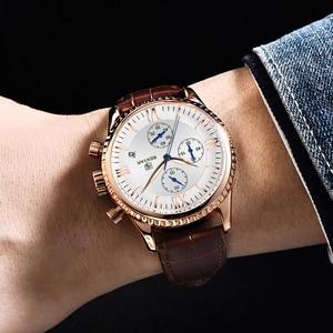 Image 3 - BENYAR heren Horloge Mode/Sport/Quartz Horloge Mannen Horloge Heren Klok Top Brand Luxe Lederen Horloges Mannen relogio Masculino