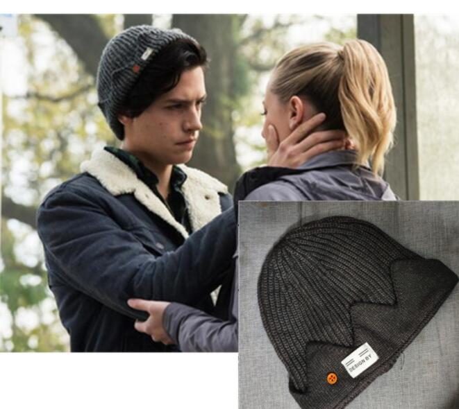 New  South Side Serpents Riverdale Cosplay Jughead Jones Winter Warm Beanie Hat Topic Exclusive Crown Knitted Cap