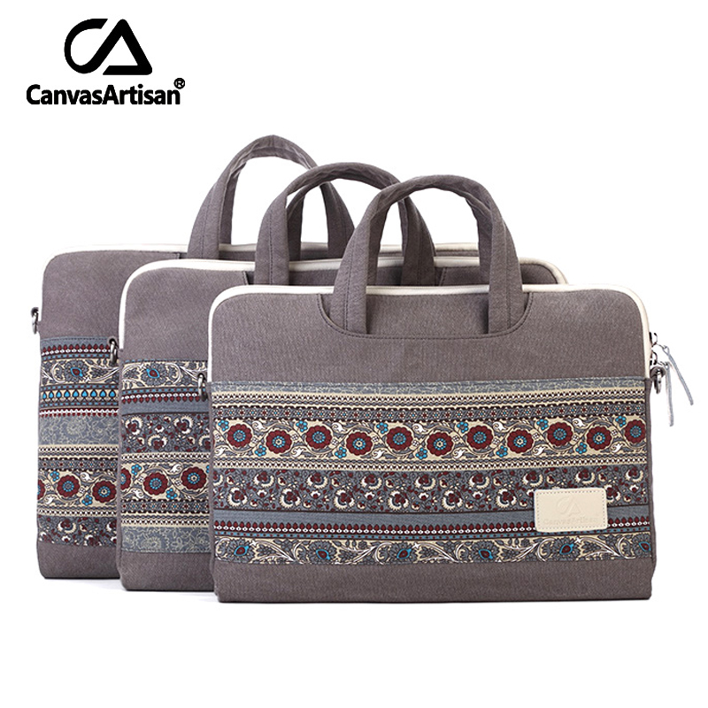 CanvasArtisan Top Quality Laptop Sleeves Protective Case Quakeproof Notebook Sleeves Canvas Bags Briefcase 13.4