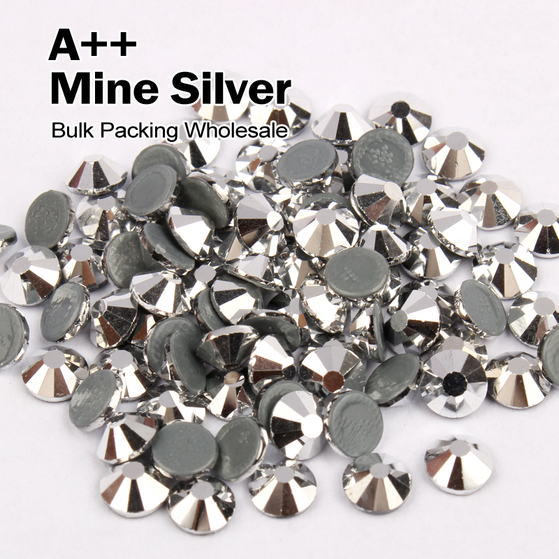 AAA SWA Similaires Hotfix Strass Mine D'argent SS6 SS10 SS16 SS20 SS30 Vrac Emballage En Gros