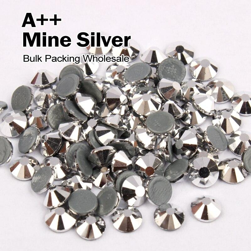 ᐂAAA similares SWA hotfix Diamantes con piedras falsas mina plata ...