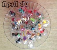 500ks April Du Brand 28mmx28mm tobolka hračky s mini zvířecími hračky 2-3cm různé styly pro toaletní stroj kapsle