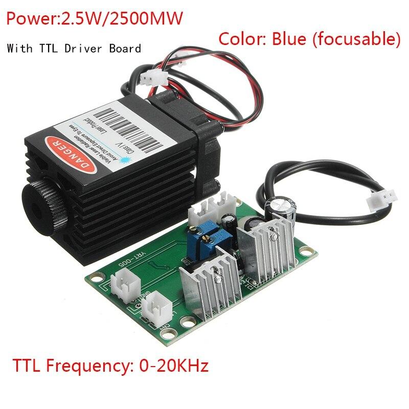 Лазерная гравировка 1,6 Вт 25000 МВт лазерный модуль Blu-ray 12 В 450nm с ttl драйвер для DIY ЧПУ выгравировать машина