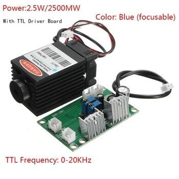 Grabado Láser 1,6 W láser de 25000 MW para Blu ray 12 V 450nm con TTL conductor para DIY CNC grabar máquina