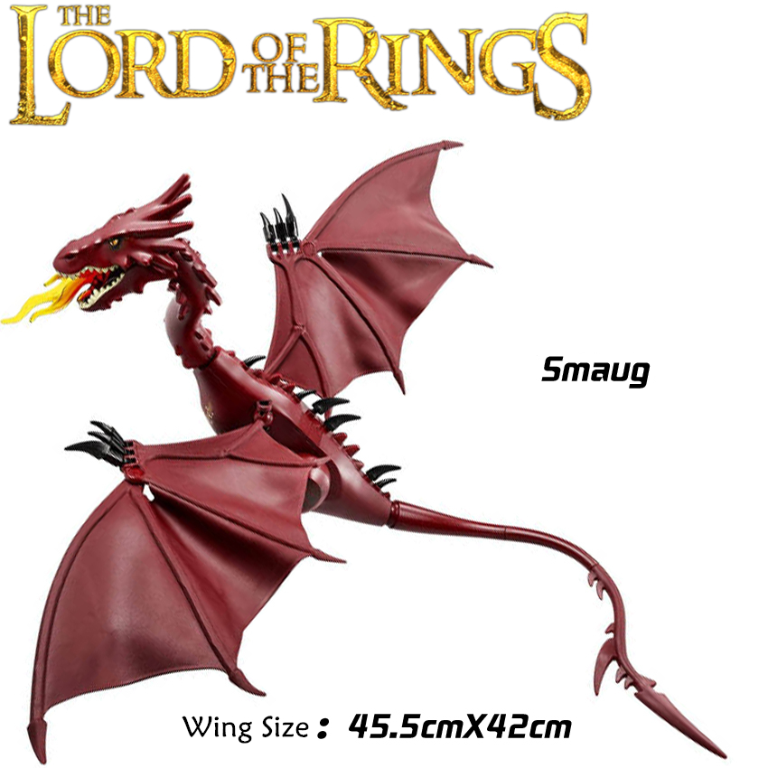 The Lord of the Rings Hobbit THE LONELY MOUNTAIN Desolation of SMAUG Dragon minifig Assemble Blocks Action Figures Toys the lonely skier