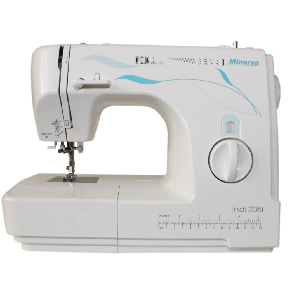 Sewing machine Minerva Indi 208i (10 operations, sewing speed 800 rev/min, backlight) sewing machine janome jq 2515s
