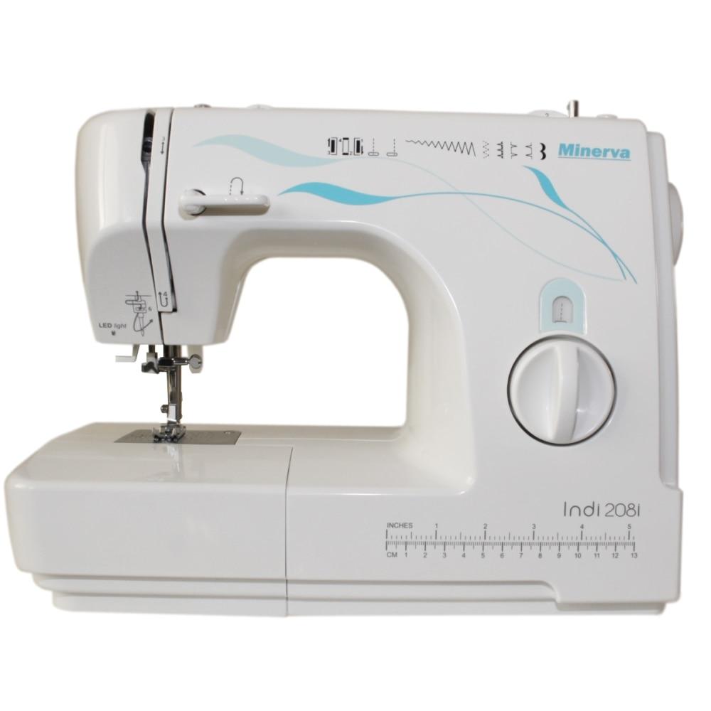 Sewing machine Minerva Indi 208i (10 operations sewing speed 800 rpm backlight) sewing machine minerva indi 219i