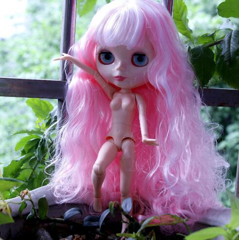 Pink Hair Blyth doll joint body Reborn Dolls Anime DIY Make up Dress up 30cm 1/6 factory nude Toys fashion BJD Doll