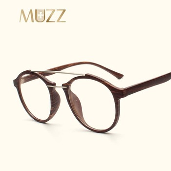 MUZZ 2018 okrągłe okulary ramki nowa moda krótkowzroczność kobiety mężczyźni okulary ramki okularów ramki optyczne okulary Super tanie i dobre opinie Unisex Z tworzywa sztucznego Okulary akcesoria Zwierząt nsN247 FRAMES Acylic Reading Glasses with Optic Lens PC ALLOY