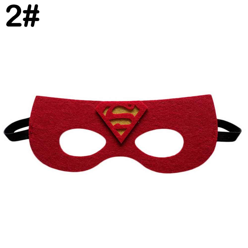 Superhero Masker Cosplay Superman Batman Spiderman Hulk Thor Besi Putri Halloween Hari Natal Anak-anak Adult Pesta Kostum Masker