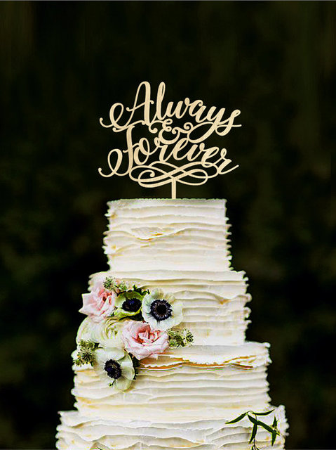 Always Forever Wedding Cake Topper Unique Wood Love Toppers