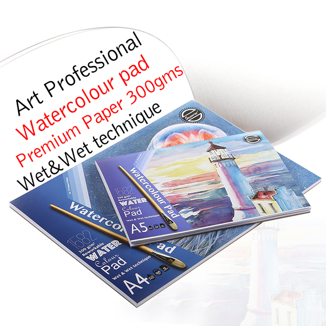 Premium Art Professional 300Gsm Watercolor Paint Paper Water Color ...