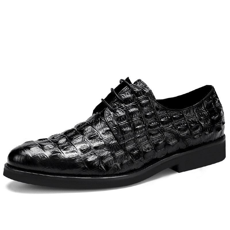 homens oxford sapatos apontados dedo do pé