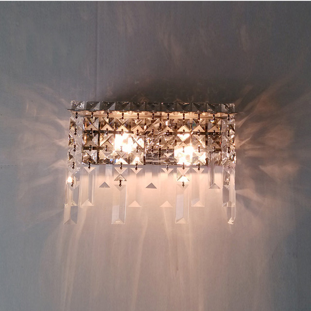 Modern Crystal Wall Lamp Sconce Light Dressing Table Mirror Sconces Modern  Wall Mounted Bedside Reading Lamps Crystal Sconce