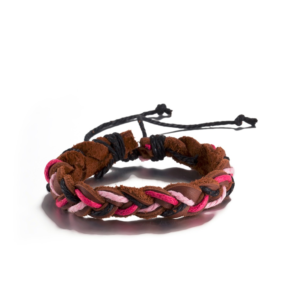 Europe Hot braided leather bracelet Vintage jewelry hip-hop style Christmas gift for men and women good quality low price H184