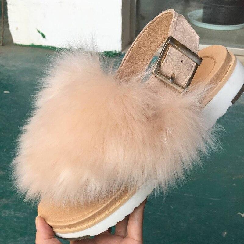2018 Laine Plein Chaussures Pantoufles Air D'été Talon De Sandales Femmes Plat nXPw8Ok0