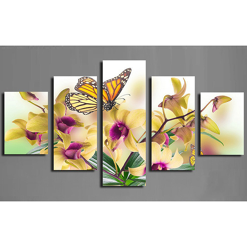 5 pcs/set Butterfly flower Full Square/Round Drill 5D DIY Diamond Painting Embroidery Cross Stitch Mosaic Rhinestone Decor AS835