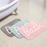 Lovely Chenille Carpet Bedroom Living Room Bathroom Soft rectangular Doormat