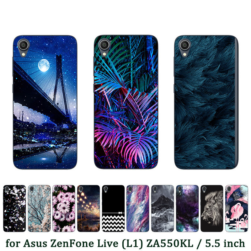 Case For Asus ZenFone Live (L1) ZA550KL Luxury Soft TPU Cases Bridge Printed Back Cover for ASUS ZA550KL Silicone Fundas