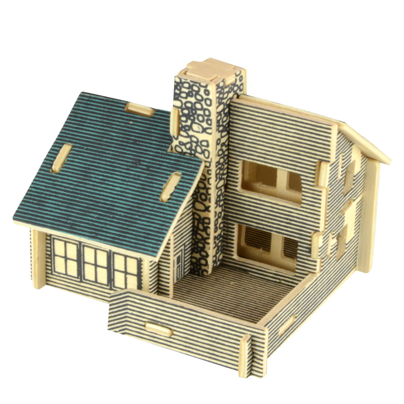 c8a293e48 Starz 3D Wooden Villa House Puzzles Toys Static Model Wood Craft Building Kits  Children Gifts for Kids