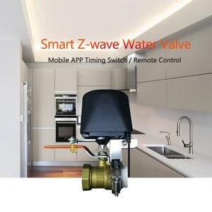 Image 2 - صمام إيقاف تلقائي يعمل بالغاز/الماء من Spetu Z Wave Plus يعمل بأتمتة منزلية ذكية مع مستشعر تسرب المياه من الغاز ZWave EU 868.4MHZ