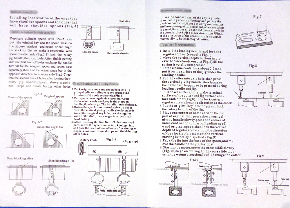 Defu BW-368a Univerzális Kulcsvágógép Lakatos - Kézi szerszámok - Fénykép 6