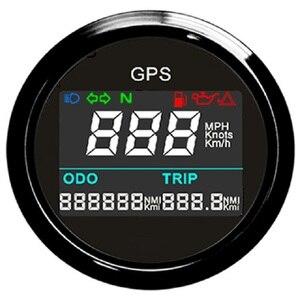 """Image 1 - Compteur de vitesse GPS numérique universel, odomètre réglable, pour bateau, Yacht, moto 2 """"12V 24V"""