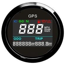 "Universal Digital GPS Speedometer Trip Meter Adjustable Odometer For Boat Yacht Motorcycle Car 2"" 12V 24V"