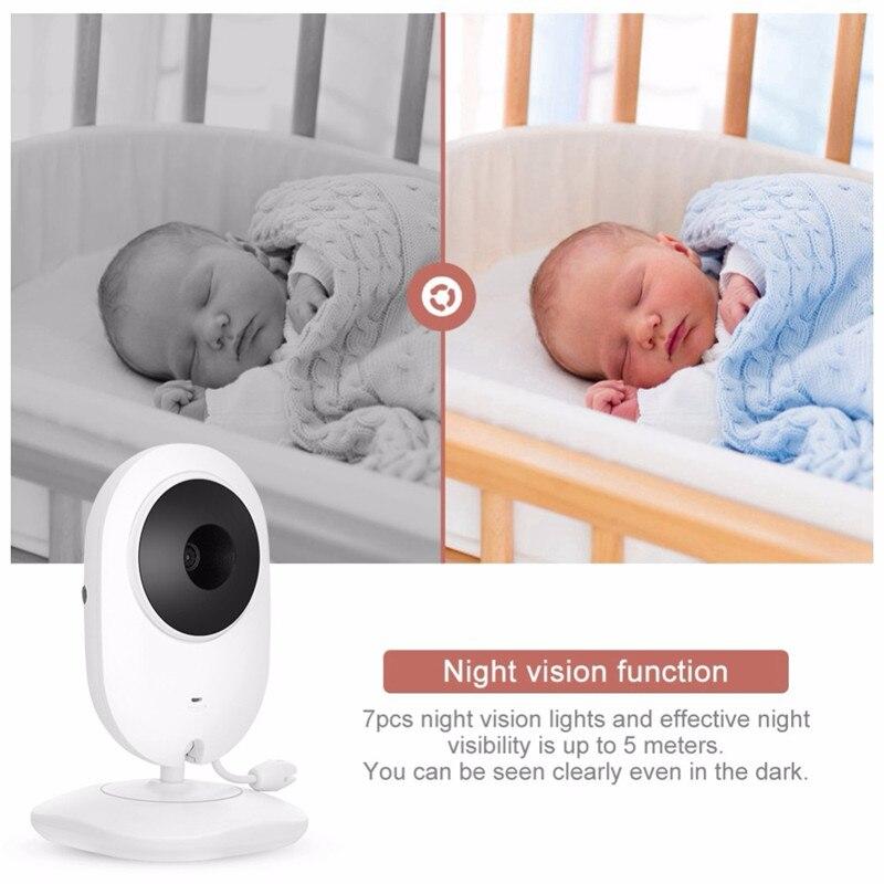 resolução bebê babá câmera segurança vox modo monitoramento temperatura