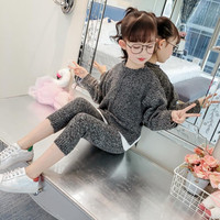 Baby Girls Spring Knit Sets 2019 New Fashion Children's Sweater Coat long sleeve Jacket Pullover casual Jacket+pants Sets Y119