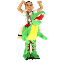 Adult Kids Men Dinosaur Costume Birthday Party Fancy Dress Ride on Dino T REX Costumes Halloween Cosplay for Women Full age size