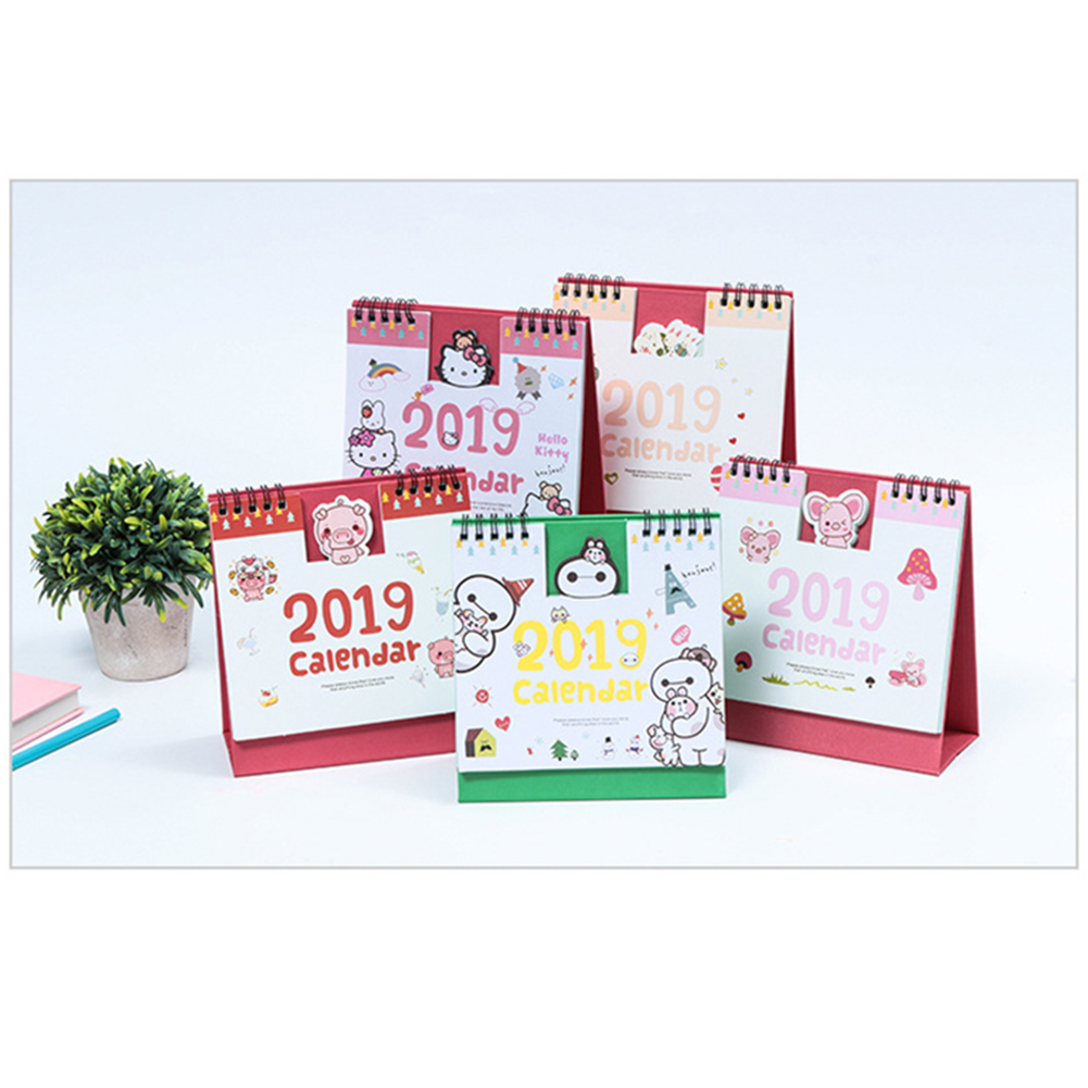 Calendar 1 Piece 15cm 2019 Cute Animal Calendar Office Stationery Desk Notebook Promotion Gift Girls Birthday Gift Carefully Selected Materials